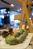 Maki sushi roll of Japanese food. A maki sushi roll of Japanese food stock images