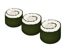 Maki Sushi Roll ou Nori Roll avec le sésame Image stock
