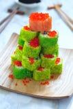 Maki Sushi Roll para la Navidad Foto de archivo