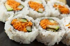 Maki Sushi Roll vegetal japonesa saudável Fotos de Stock Royalty Free