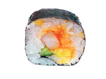 Maki sushi roll. On white background royalty free stock images