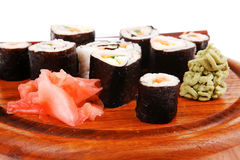 Maki sushi rolls Royalty Free Stock Photography