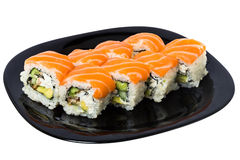 Maki sushi with Salmon. Royalty Free Stock Images