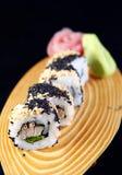 Maki sushi with sesame Stock Image
