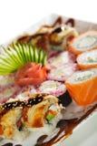Maki Sushi-Set Lizenzfreie Stockfotos