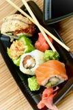 Maki Sushi-Set Lizenzfreies Stockfoto