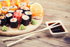 Maki Sushi set Royalty Free Stock Image
