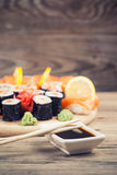Maki Sushi set Royalty Free Stock Photos