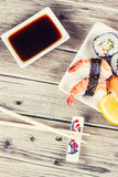Maki Sushi set Stock Image