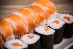 Maki Sushi set Royalty Free Stock Photo