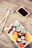 Maki Sushi set Stock Photo