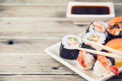 Maki Sushi set Stock Photography