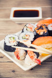 Maki Sushi set Stock Photos