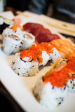 Maki sushi variety Royalty Free Stock Photography