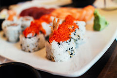 Maki sushi variety Royalty Free Stock Photos