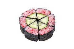Maki Sushi withTobiko. Isolated on white background Stock Images