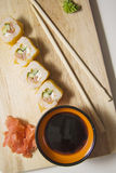 Maki on wooden plate Royalty Free Stock Images
