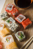 Maki on wooden plate 8 Royalty Free Stock Image