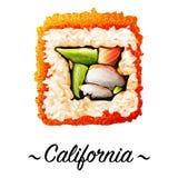 Maki-zushi California sushi roll Stock Photos