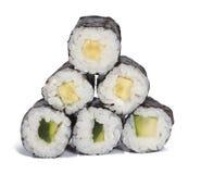 Makibroodjes van de komkommer Stock Fotografie