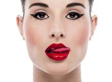 Makijażu portret obrazy royalty free