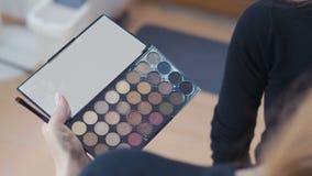 Makijaży narzędzia: muśnięcia kłaść na koloru kosmetyka palecie zbiory wideo