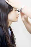 makijaż dziewczyny zdjęcie royalty free