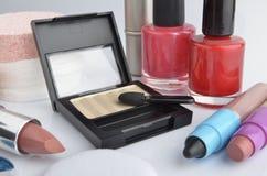 Makijaży kosmetyki Zdjęcia Stock
