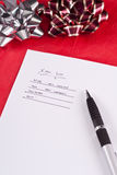 Making A Gift List Stock Photos