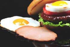 Making A Hamburger Royalty Free Stock Photo