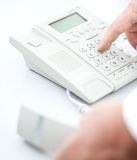 Making A Phone Call Royalty Free Stock Photos