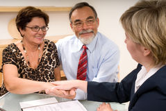 Making a agreement Stock Photo