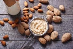 Making almond milk Stock Image