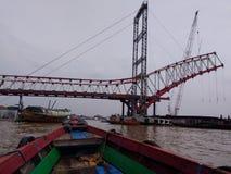Making Ampera bridge 2 royalty free stock image