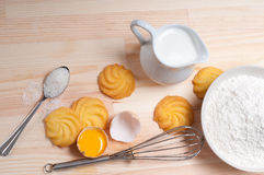 Making baking cookies Royalty Free Stock Photography