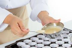Making banana cake Stock Photo