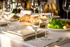 Making banquet table Royalty Free Stock Image