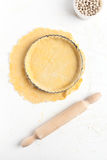 Making a Basic Shortcrust Pastry Stock Photo
