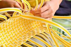 Making a Basket Royalty Free Stock Image