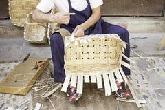 Making baskets Royalty Free Stock Image