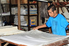 Making batik stock photography