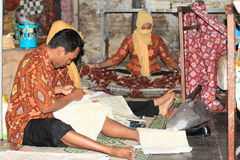 Making batik Stock Image