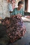 Making batik stamp Royalty Free Stock Photo
