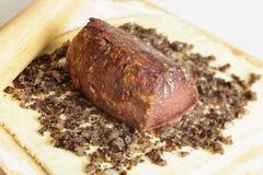 Making beef wellington Stock Image