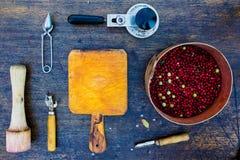 Making berry jam Stock Image