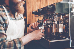 Making best coffee. Stock Images