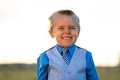 Making a big smile Royalty Free Stock Photography