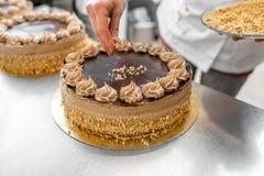 Making biscuit cake Royalty Free Stock Image
