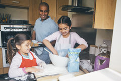 Making Biscuits with Dad Royalty Free Stock Photography