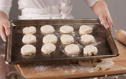 Making Biscuits Stock Image